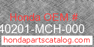 Honda 40201-MCH-000 genuine part number image