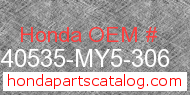 Honda 40535-MY5-306 genuine part number image