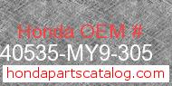 Honda 40535-MY9-305 genuine part number image