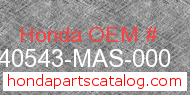 Honda 40543-MAS-000 genuine part number image