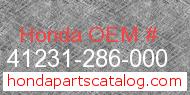 Honda 41231-286-000 genuine part number image