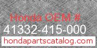 Honda 41332-415-000 genuine part number image