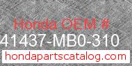 Honda 41437-MB0-310 genuine part number image