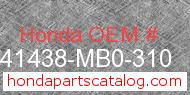 Honda 41438-MB0-310 genuine part number image