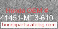 Honda 41451-MT3-610 genuine part number image
