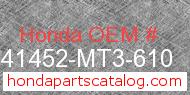 Honda 41452-MT3-610 genuine part number image