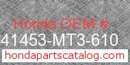 Honda 41453-MT3-610 genuine part number image