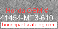 Honda 41454-MT3-610 genuine part number image