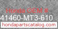 Honda 41460-MT3-610 genuine part number image