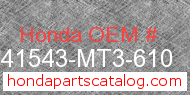 Honda 41543-MT3-610 genuine part number image