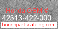 Honda 42313-422-000 genuine part number image