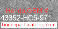 Honda 43352-HC5-971 genuine part number image