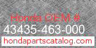 Honda 43435-463-000 genuine part number image