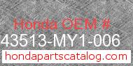Honda 43513-MY1-006 genuine part number image