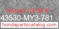 Honda 43530-MY3-781 genuine part number image