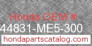 Honda 44831-ME5-300 genuine part number image