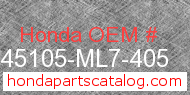 Honda 45105-ML7-405 genuine part number image