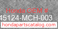 Honda 45124-MCH-003 genuine part number image