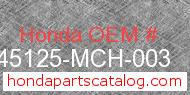 Honda 45125-MCH-003 genuine part number image