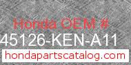 Honda 45126-KEN-A11 genuine part number image
