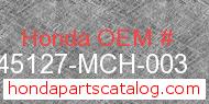 Honda 45127-MCH-003 genuine part number image