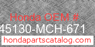 Honda 45130-MCH-671 genuine part number image