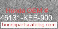 Honda 45131-KEB-900 genuine part number image