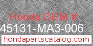 Honda 45131-MA3-006 genuine part number image