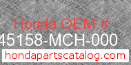 Honda 45158-MCH-000 genuine part number image