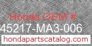 Honda 45217-MA3-006 genuine part number image