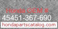 Honda 45451-367-690 genuine part number image