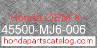 Honda 45500-MJ6-006 genuine part number image