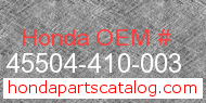 Honda 45504-410-003 genuine part number image