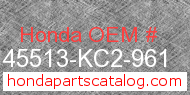 Honda 45513-KC2-961 genuine part number image