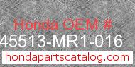 Honda 45513-MR1-016 genuine part number image