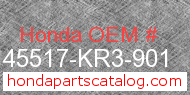 Honda 45517-KR3-901 genuine part number image