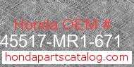 Honda 45517-MR1-671 genuine part number image