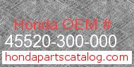Honda 45520-300-000 genuine part number image