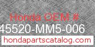 Honda 45520-MM5-006 genuine part number image