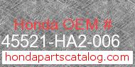 Honda 45521-HA2-006 genuine part number image