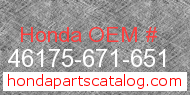 Honda 46175-671-651 genuine part number image