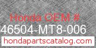 Honda 46504-MT8-006 genuine part number image