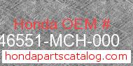 Honda 46551-MCH-000 genuine part number image