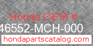 Honda 46552-MCH-000 genuine part number image
