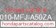 Honda 50010-MFJ-A50ZA genuine part number image