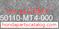 Honda 50110-MT4-000 genuine part number image