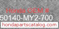 Honda 50140-MY2-700 genuine part number image