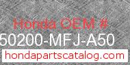 Honda 50200-MFJ-A50 genuine part number image