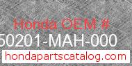 Honda 50201-MAH-000 genuine part number image