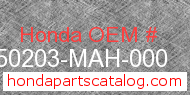 Honda 50203-MAH-000 genuine part number image